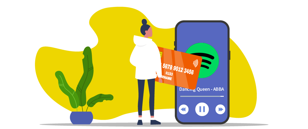 You can only pay for Spotify using local payment methods