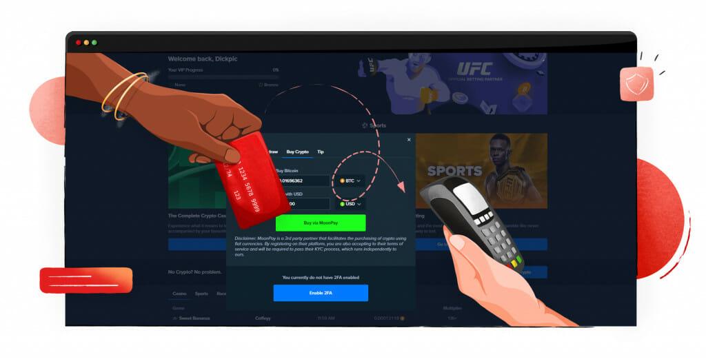 Buying Bitcoin with Stake casino
