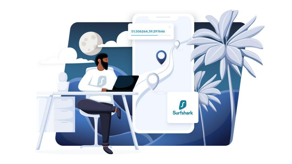 GPS spoofing by Surfshark