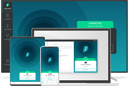 Surfshark applications for every OS