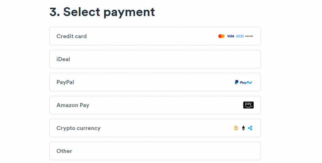 Surfshark payment options