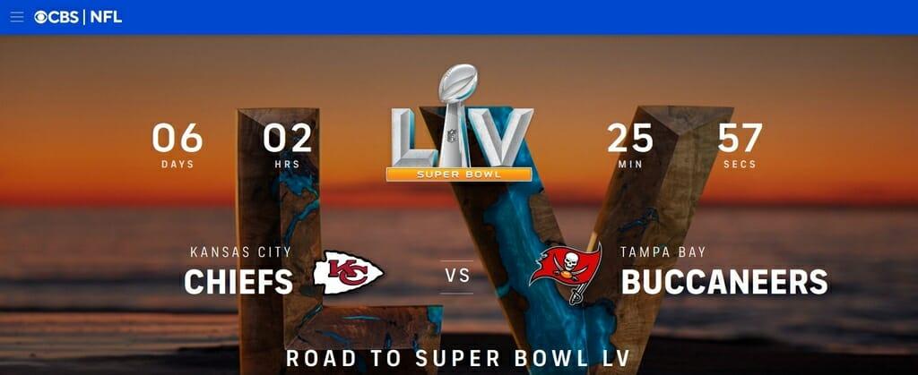 Il Super Bowl su CBS Sports