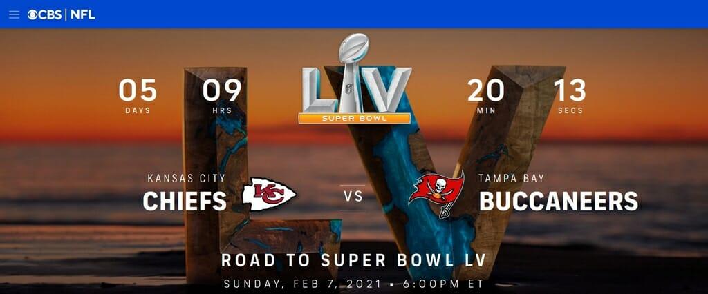 Super Bowl op CBS sports