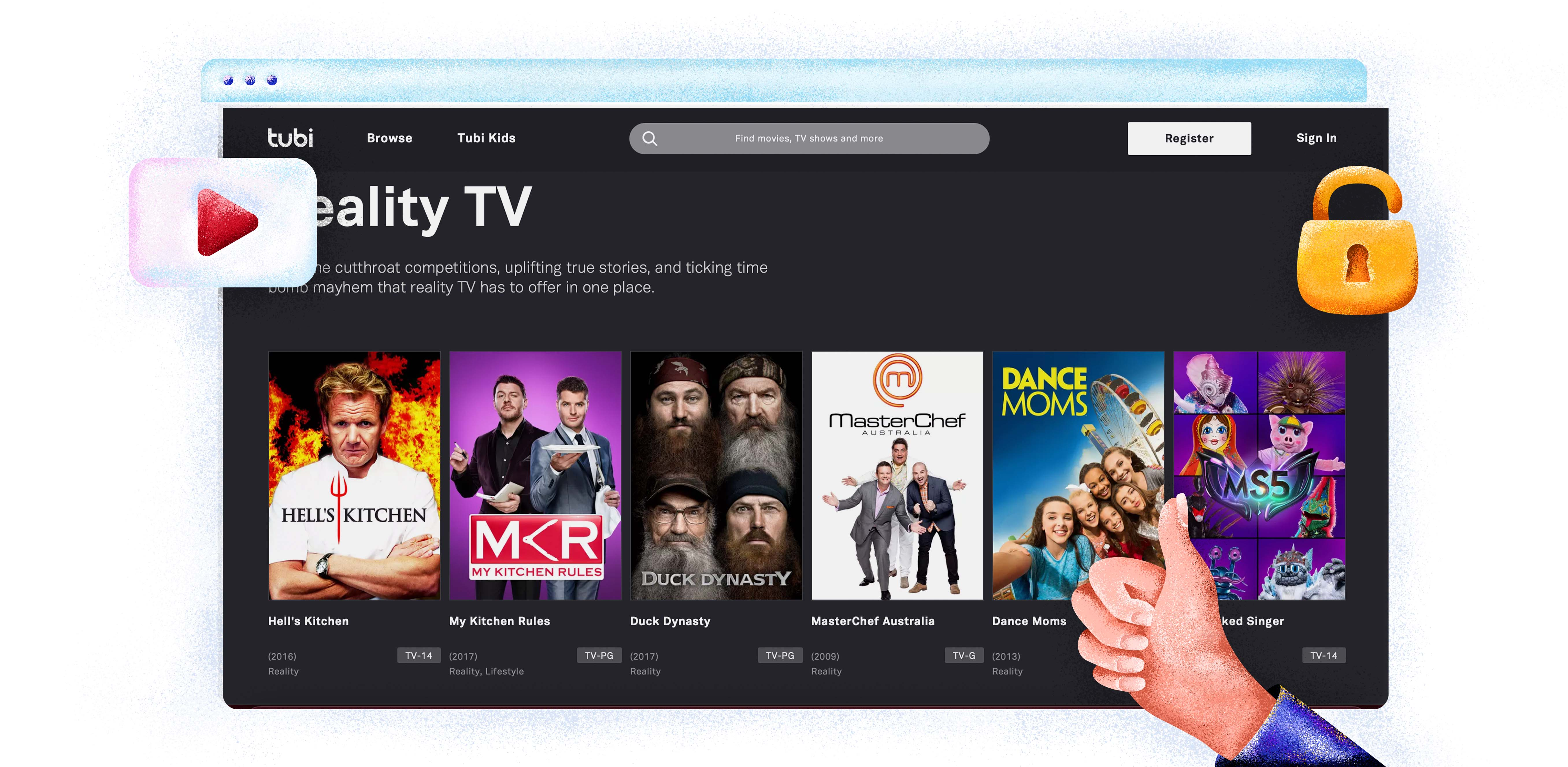 Tubi TV nézése Magyarországról a NordVPN segítségével