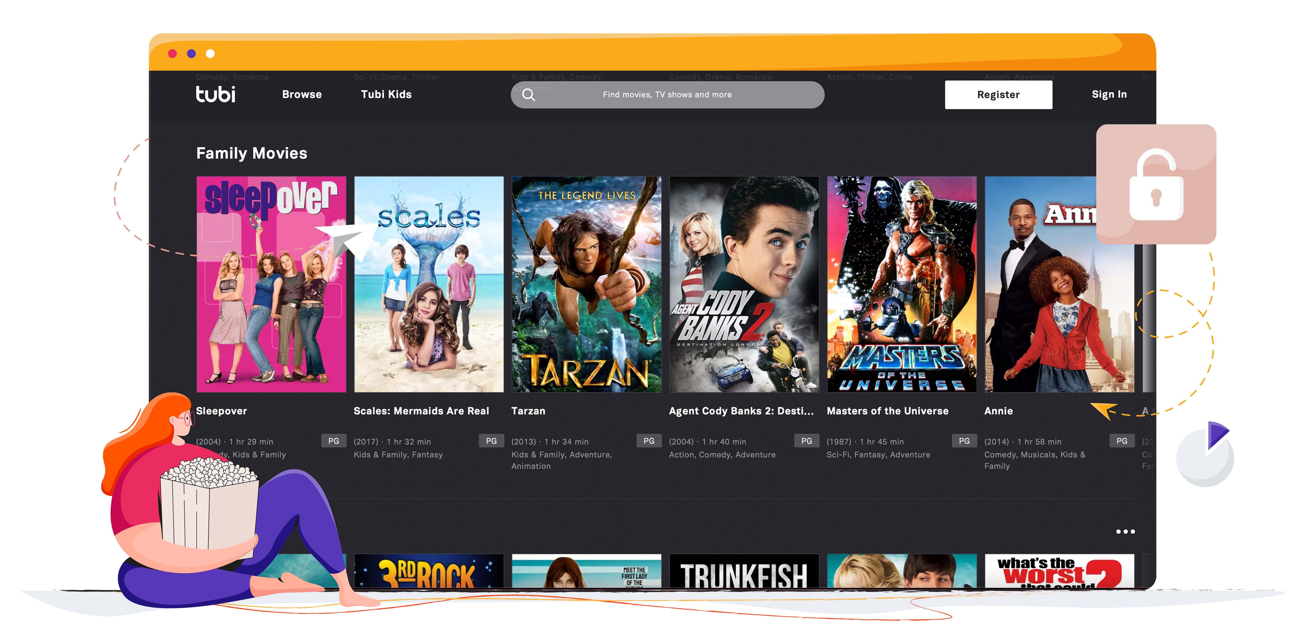 Tubi TV széles filmválasztékkal rendelkezik