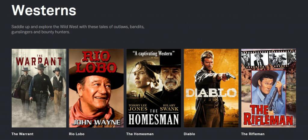 Westerny na Tubi