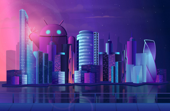 android breaks into the city