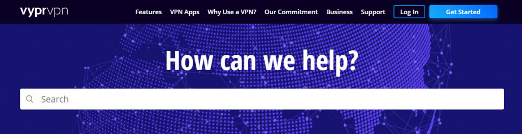 VyprVPN support website