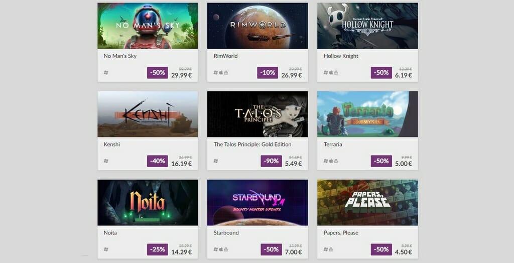 Indie-Spiele auf GOG