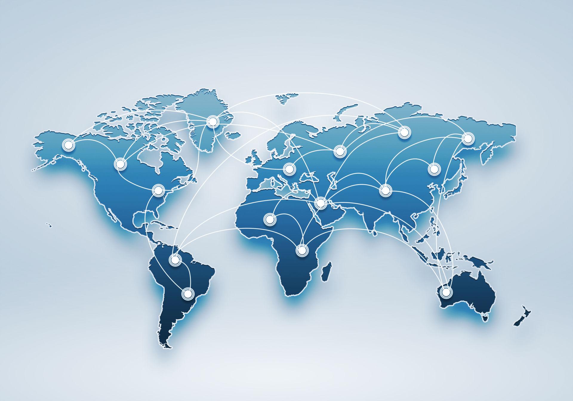 Geoblocking world map