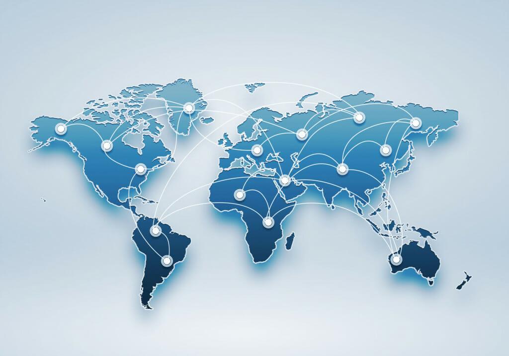 Geoblocking wereldkaart