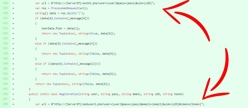 Richieste API HTTP