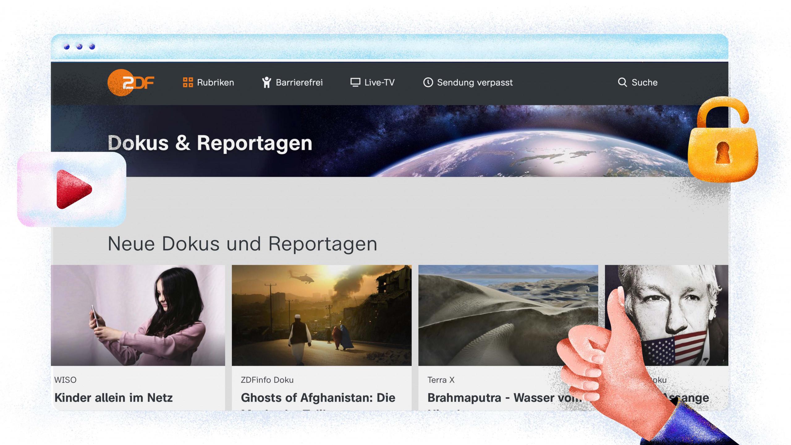 Op ZDF kun je films, series en documentaires kijken