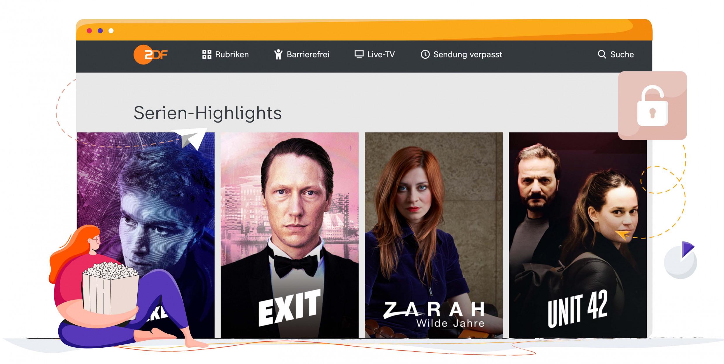 Met een VPN kun je ZDF overal kijken