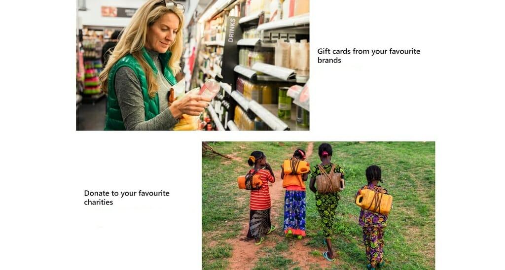 Dobroczynność z Microsoft Rewards