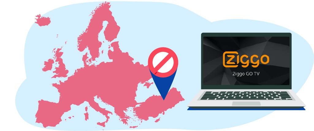 Ziggo Go blokkeerd kijkers op basis van hun IP adres